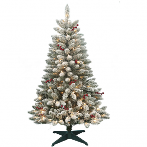 $70 off DONNER & BLITZEN 4.5' Pre-Lit Redwood Berry Flocked Pine with 200 Clear Lights@Sears