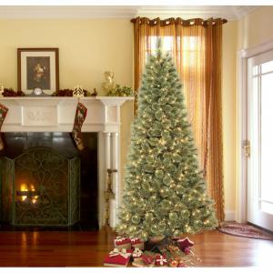 DONNER & BLITZEN 7.5' Pre-Lit Westchester Slim Cashmere Pine with 600 Clear Lights