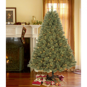 DONNER & BLITZEN 7.5' Pre-Lit Westchester Deluxe Cashmere Pine with 600 Clear Lights