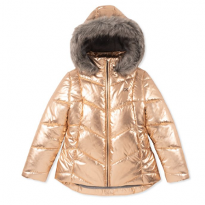 Calvin Klein Girl's Faux Fur-Trimmed Puffer Jacket