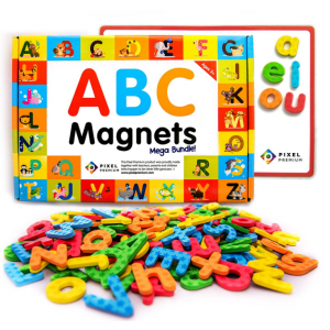 54% off Pixel Premium ABC Magnets for Kids Gift Set - 142 Magnetic Letters @ Amazon